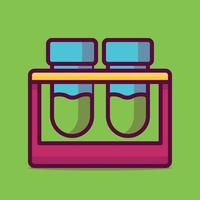 Test tube Vector Icon Illustration. Flat Cartoon Style Suitable for Web Landing Page, Banner, Sticker, Background.