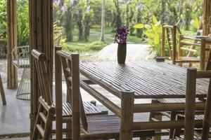 Bamboo resort furniture photo