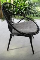 Black outdoor chair photo