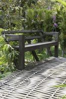 Bench in a garden photo