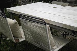 muebles de patio al aire libre foto