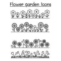 Flower garden vector pattern background
