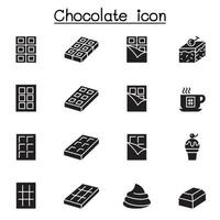 Chocolate icon set vector illustration graphic design