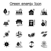 Green energy icon set vector illustration graphic design