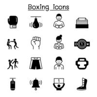 Boxing icon set vector illustration graphic design