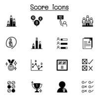 Los iconos de puntuación establecen diseño gráfico de ilustración vectorial vector