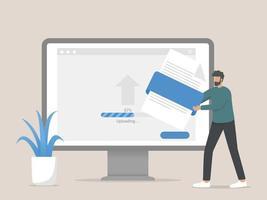 Uploading file concept illustration vector