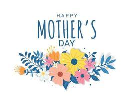 feliz día de la madre letras sobre un fondo blanco ilustración vector