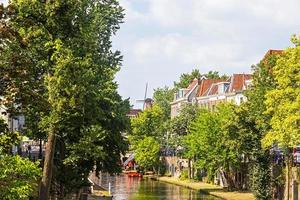 View from one canal of Utrecht, Netherlands photo