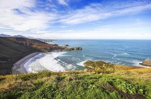 Beach of Torimbia near Llanes, Asturias, Spain photo