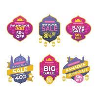 Set of Ramadan Sale Label vector