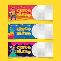Festive Cinco De Mayo Set Banner Concept vector