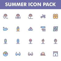 Summer icon pack on white background vector