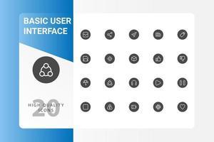 paquete de iconos de interfaz de usuario aislado sobre fondo blanco. para el diseño de su sitio web, logotipo, aplicación, interfaz de usuario. Ilustración de gráficos vectoriales y trazo editable. eps 10. vector
