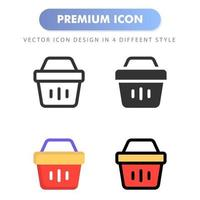 basket icon for your web site design, logo, app, UI. Vector graphics illustration and editable stroke. icon design EPS 10.