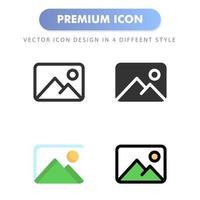 icono de imagen para el diseño de su sitio web, logotipo, aplicación, interfaz de usuario. Ilustración de gráficos vectoriales y trazo editable. diseño de icono eps 10. vector