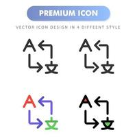 translate icon for your web site design, logo, app, UI. Vector graphics illustration and editable stroke. icon design EPS 10.