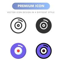 disc icon for your web site design, logo, app, UI. Vector graphics illustration and editable stroke. icon design EPS 10.