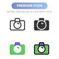 icono de cámara para el diseño de su sitio web, logotipo, aplicación, interfaz de usuario. Ilustración de gráficos vectoriales y trazo editable. diseño de icono eps 10. vector