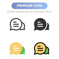 icono de chat para el diseño de su sitio web, logotipo, aplicación, interfaz de usuario. Ilustración de gráficos vectoriales y trazo editable. diseño de icono eps 10. vector