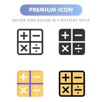 calculator icon for your web site design, logo, app, UI. Vector graphics illustration and editable stroke. icon design EPS 10.