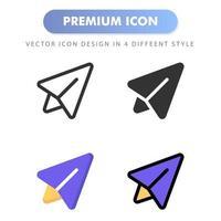 enviar icono para el diseño de su sitio web, logotipo, aplicación, interfaz de usuario. Ilustración de gráficos vectoriales y trazo editable. diseño de icono eps 10. vector