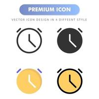clock icon for your web site design, logo, app, UI. Vector graphics illustration and editable stroke. icon design EPS 10.