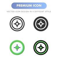icono de radar para el diseño de su sitio web, logotipo, aplicación, interfaz de usuario. Ilustración de gráficos vectoriales y trazo editable. diseño de icono eps 10. vector