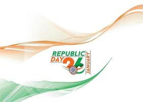 Indian Republic day concept with text 26 January. Abstract Vector illustration Design.