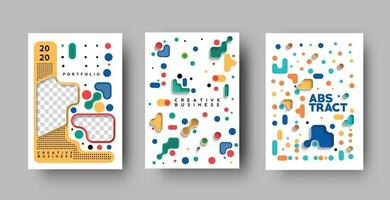 Set of Flyer and Poster Cover Design in A4 Size Template Illustration. vector