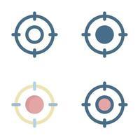 icono de destino en aislado sobre fondo blanco. para el diseño de su sitio web, logotipo, aplicación, interfaz de usuario. Ilustración de gráficos vectoriales y trazo editable. eps 10.