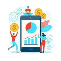 Mobile analysis with people vector