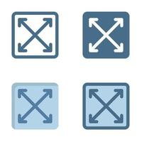 maximizar el icono en aislado sobre fondo blanco. para el diseño de su sitio web, logotipo, aplicación, interfaz de usuario. Ilustración de gráficos vectoriales y trazo editable. eps 10. vector