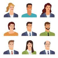 avatares de personas de negocios vector