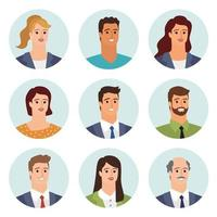 Business people avatars vector