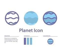 planet icon in isolated on white background. for your web site design, logo, app, UI. Vector graphics illustration and editable stroke. EPS 10.