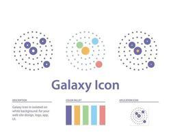 icono de galaxia en aislado sobre fondo blanco. para el diseño de su sitio web, logotipo, aplicación, interfaz de usuario. Ilustración de gráficos vectoriales y trazo editable. eps 10. vector