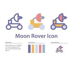 moon rover icon in isolated on white background. for your web site design, logo, app, UI. Vector graphics illustration and editable stroke. EPS 10.