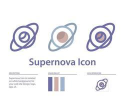 icono de supernova en aislado sobre fondo blanco. para el diseño de su sitio web, logotipo, aplicación, interfaz de usuario. Ilustración de gráficos vectoriales y trazo editable. eps 10. vector