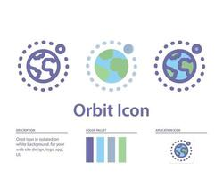 orbit moon icon in isolated on white background. for your web site design, logo, app, UI. Vector graphics illustration and editable stroke. EPS 10.
