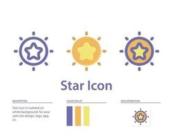 star icon in isolated on white background. for your web site design, logo, app, UI. Vector graphics illustration and editable stroke. EPS 10.