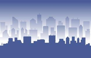 Stacked City Building Cityscape Skyline Business Illustration vector