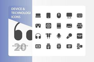 Device and Technology Icon Pack vector