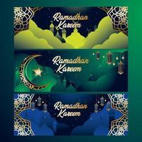 Ramadan Banner Kareem Concept vector