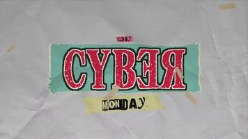 animation intro texte cyber lundi sur hipster et fond grunge video