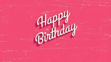 closeup animado texto de feliz aniversário em fundo vermelho de feriado video