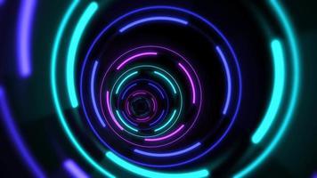 abstrait de lignes de tunnel de néon coloré de mouvement
