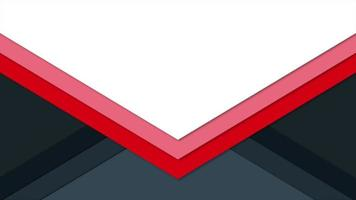 Motion intro geometric red and black triangles, abstract background video