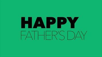 animação texto dia dos pais sobre fundo de moda verde e minimalismo