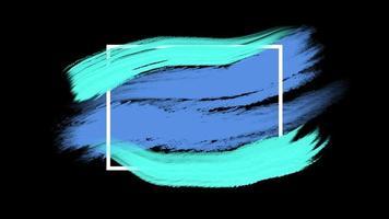 Brosses bleues abstraites de mouvement, fond grunge coloré video